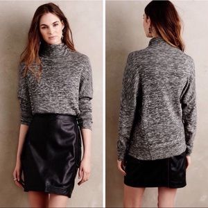 Anthropologie Gray turtleneck sweater